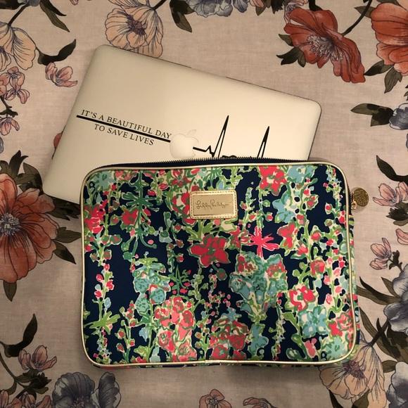 size 40 7a854 ff968 Lilly Pulitzer Neoprene Laptop Tech Sleeve Case